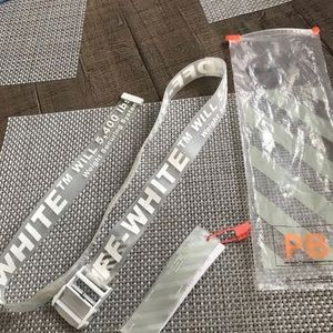 Off white clear belt